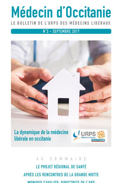 URPS médecin d'Occitanie bulletin N3 09-2017