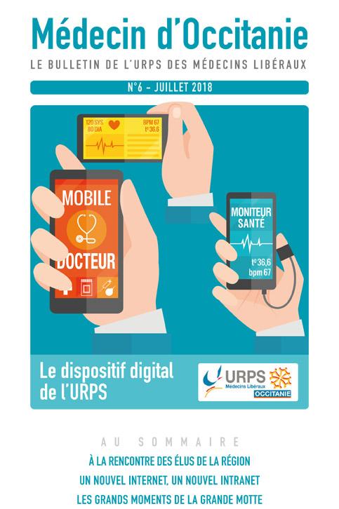 URPS médecin d'Occitanie bulletin N6 07-2018